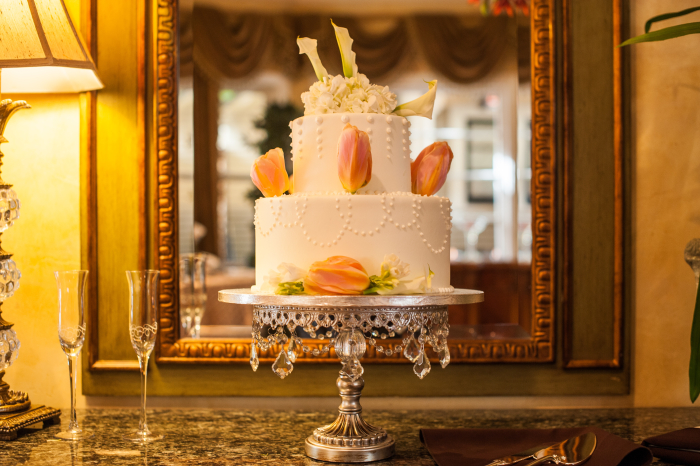 Wedding Cake at Gatherings Pacific Grove Intimate Venue